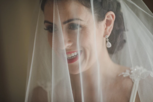 Behind every veil is a beautiful blushing bride. Love veils and loved this bride